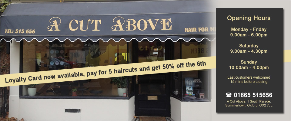 A Cut Above Shop Front